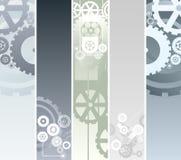 Drapeaux technologiques et mécaniques illustration de vecteur