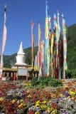 Drapeaux tibétains de prière Photo stock