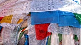 Drapeaux tibétains de prière Image stock