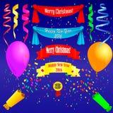 Drapeaux, tresse et confettis Images libres de droits