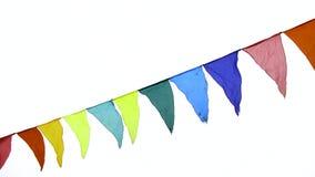 Drapeaux triangulaires colorés ondulant dans le vent, décoration pour les vacances, extérieure clips vidéos