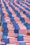 Drapeaux unis d'état pour l'événement 9-11 Images libres de droits