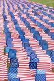 Drapeaux unis d'état pour l'événement 9-11 Photos stock