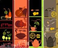 Drapeaux verticaux de café Photo stock