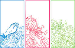 Drapeaux verticaux floraux Photo libre de droits