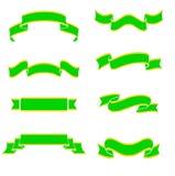 Drapeaux verts Photographie stock libre de droits
