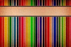 Drapeaux vides colorés sur un fond sale Images stock