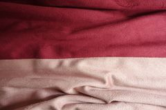 Draped artificial suede fabric in pink and red. Colors Royalty Free Stock Images