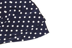 Draped blue silk with polka dots as a background.  royalty free stock image