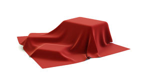Draped cloth over boxes Royalty Free Stock Images