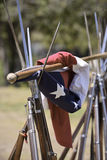 Draped flag Stock Photography