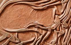Draped leather Stock Images