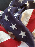 Old fabric American flag Royalty Free Stock Photo