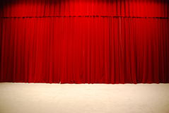 Draped theater curtains Royalty Free Stock Photos