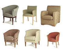 Drapeje cadeiras fotos de stock