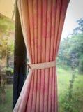 Drapeje a janela de vidro fotografia de stock