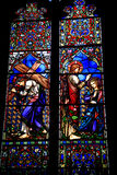 Draper chantry window, Priory church. Royalty Free Stock Images