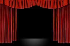 draperad horozontal röd theatre Arkivfoto