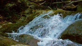 Draperend Water die van Bergstroom neer stromen stock video