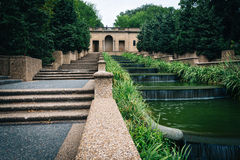 Draperende fontein bij Hoogste Heuvelpark, in Washington, gelijkstroom Royalty-vrije Stock Afbeelding