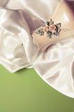Draperie en soie blanche Photo libre de droits