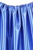 Draperie en soie bleue Images stock
