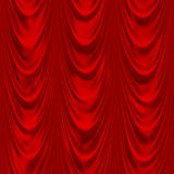 draperii czerwień Fotografia Royalty Free