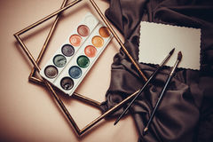 Drapery and aquarelle Royalty Free Stock Photography