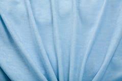 Drapery blu del velluto Immagini Stock