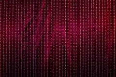 Drapery di cristallo con tessuto rosso Fotografie Stock