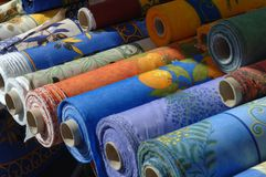 Drapery on a french market Royalty Free Stock Image