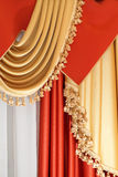Drapery - part of home interior. Part of luxurious window coverings of a home interior Royalty Free Stock Photo