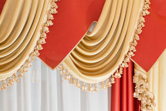 Drapery - part of home interior Royalty Free Stock Photos