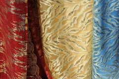 Drapery. Colorful drapery trade at a street stall Royalty Free Stock Photography