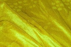 Drapery. Yellow and green coloured textile Royalty Free Stock Image