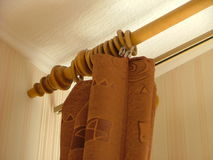Drapes. Room corner with drapes Royalty Free Stock Images