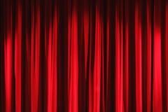 κόκκινο βελούδο κουρτινών drapes Στοκ εικόνα με δικαίωμα ελεύθερης χρήσης