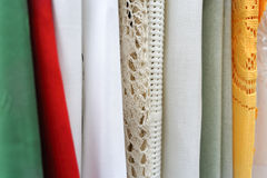 Drapes and curtains. Stock Photos
