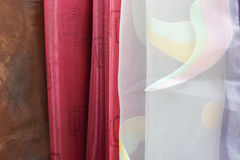 Drapes and curtains. Royalty Free Stock Photo