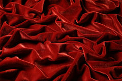 Draping velvet burgundy in color Stock Photo