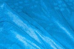 Drappi blu del raso Fotografia Stock Libera da Diritti
