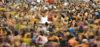 Drar den folk sångaren Atul Purohit för gujaratien den stora folkmassan i Chicago Arkivbilder