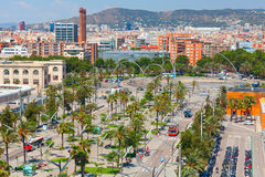 Drassanes square. Barcelona, Spain Royalty Free Stock Image