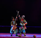 "A drastic fighting--Peking opera ""Little Worriors of Yeuh's family"" Stock Photography"