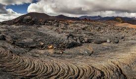 Drastische Ansichten der vulkanischen Landschaft stockbild