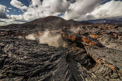 Drastische Ansichten der vulkanischen Landschaft lizenzfreies stockbild