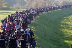 Drastische Bilder von der slowenischen Flüchtlingskrise Stockfoto