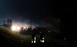 Drastische Bilder von der slowenischen Flüchtlingskrise Lizenzfreie Stockfotografie
