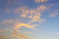 Drastische Himmelwolken Lizenzfreies Stockfoto