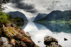 Drastische Landschaft in Norwegen Stockbild